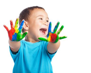 Finger Painting Gloop And Slime